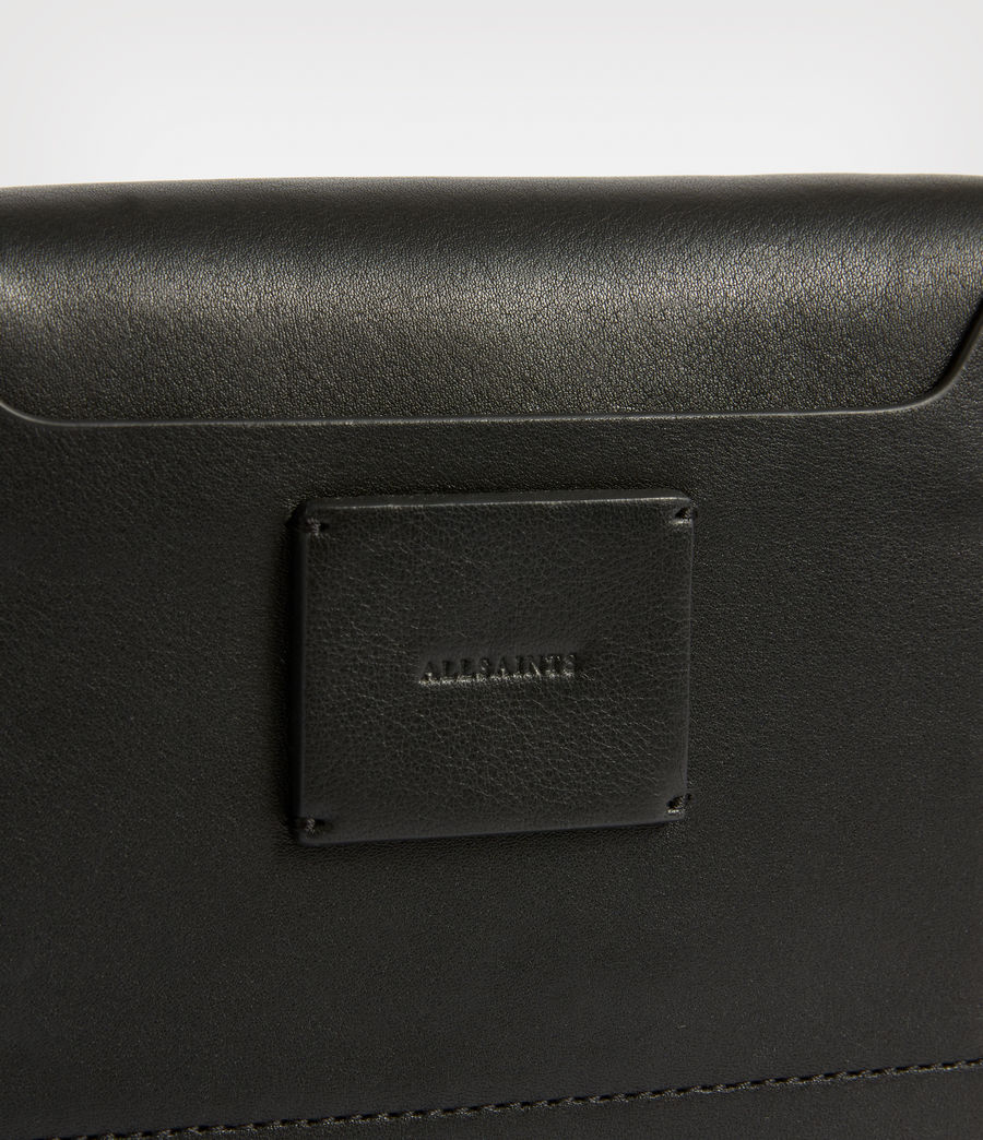 Women's Teca Leather Crossbody Bag (black) - Image 6