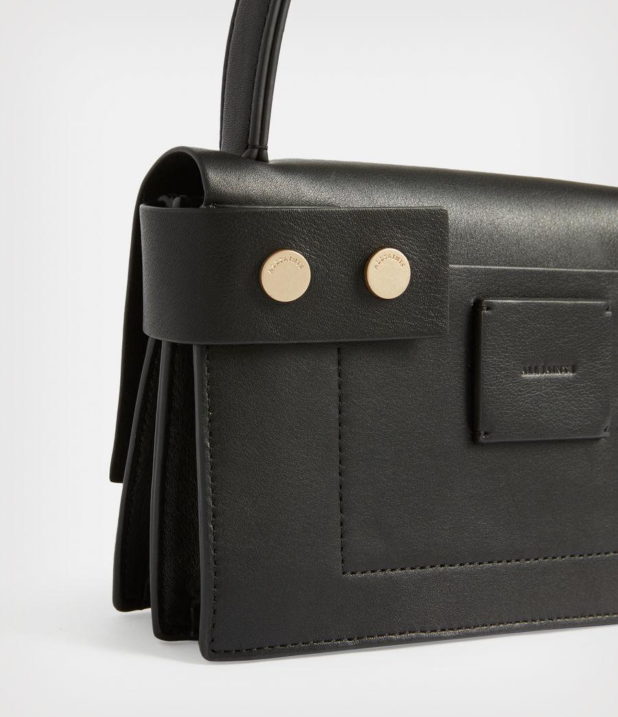 Women's Teca Leather Crossbody Bag (black) - Image 7