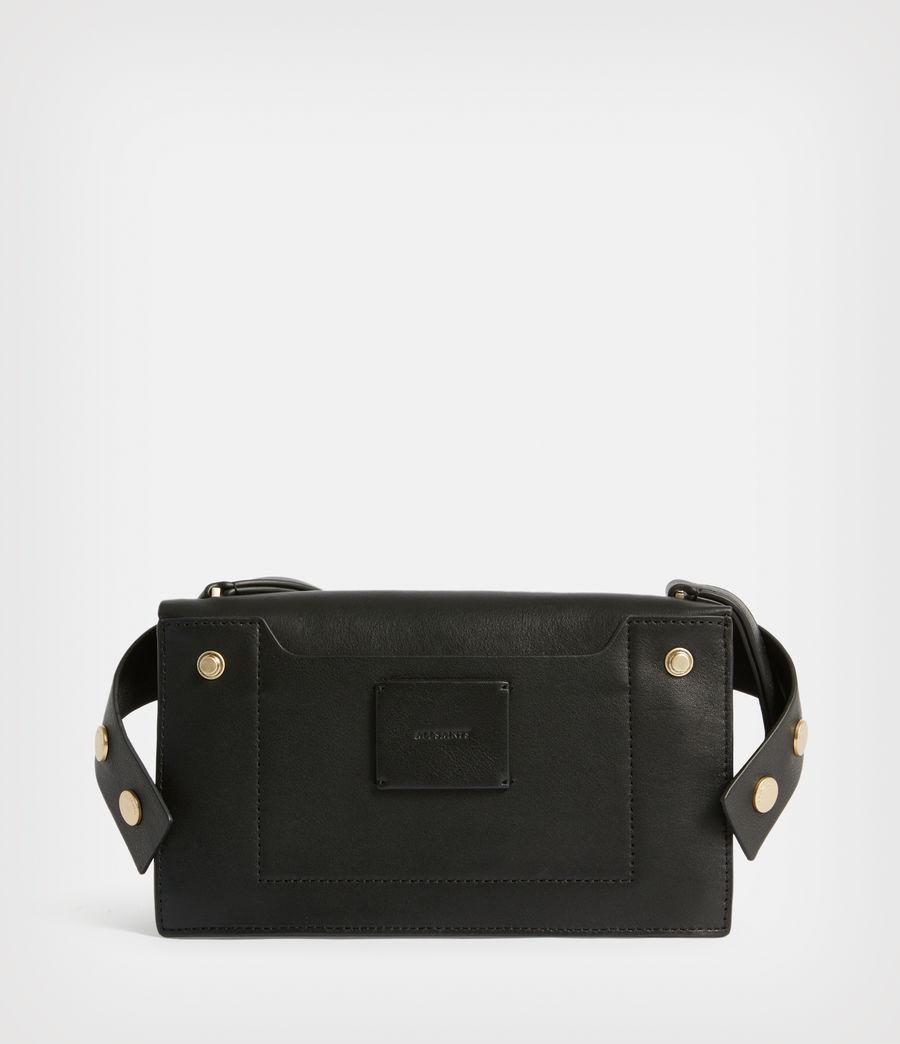 Women's Teca Leather Crossbody Bag (black) - Image 8