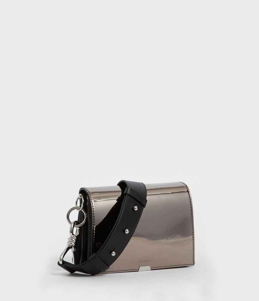 Womens Captain Mirror Shoulder Bag (gunmetal_grey) - Image 2