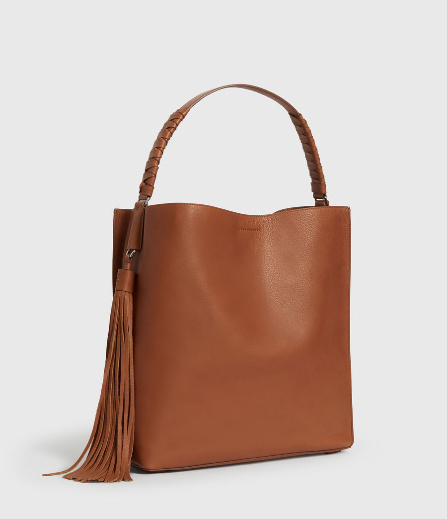 Donne Borsa Tote Shirley North - In pelle zigrinata (tan) - Image 3
