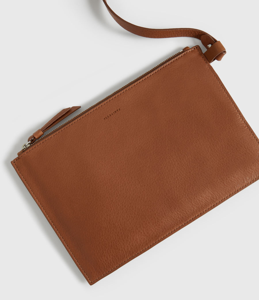 Donne Borsa Tote Shirley North - In pelle zigrinata (tan) - Image 4