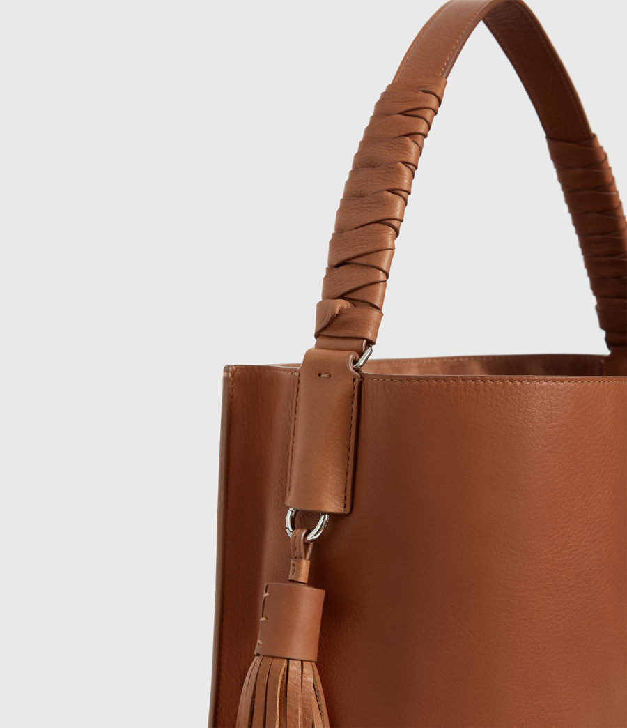 Donne Borsa Tote Shirley North - In pelle zigrinata (tan) - Image 5