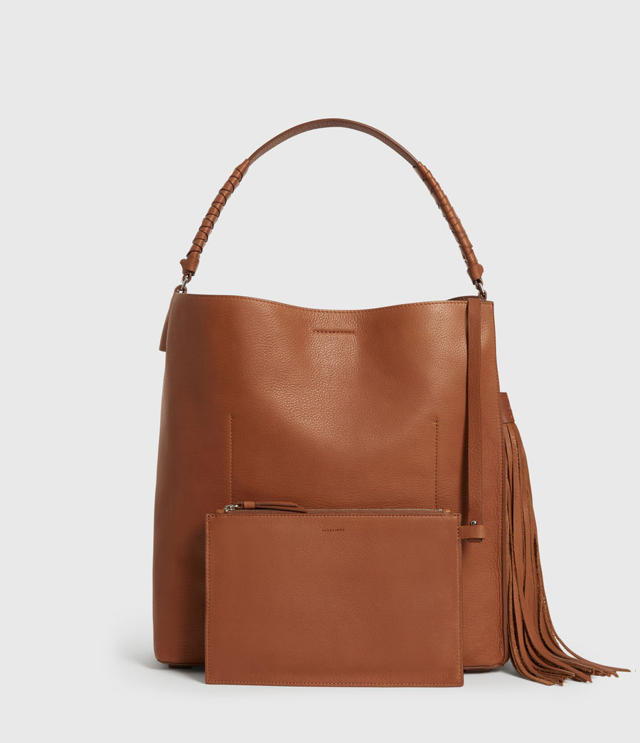 Donne Borsa Tote Shirley North - In pelle zigrinata (tan) - Image 7