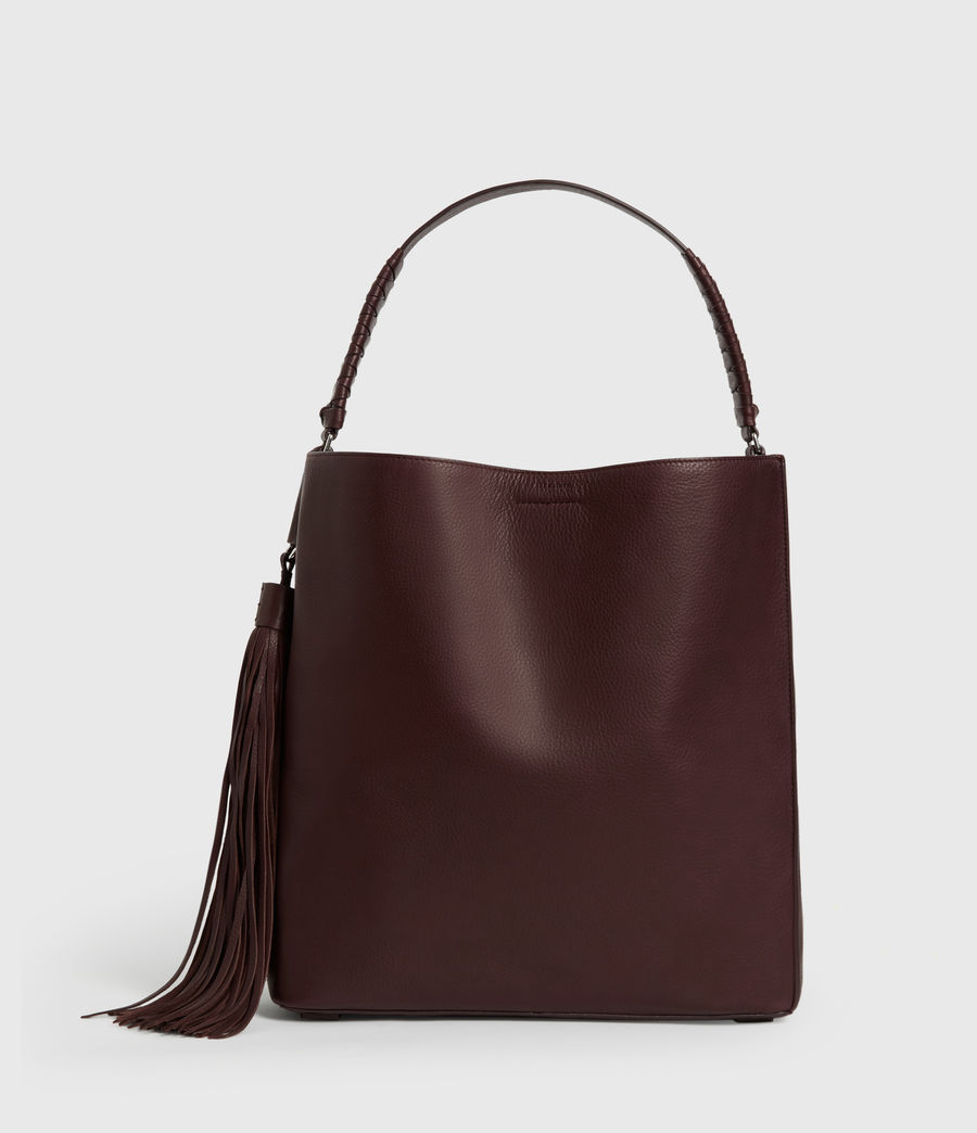 Womens Shirley North South Leather Tote Bag (bordeaux_red) - Image 1