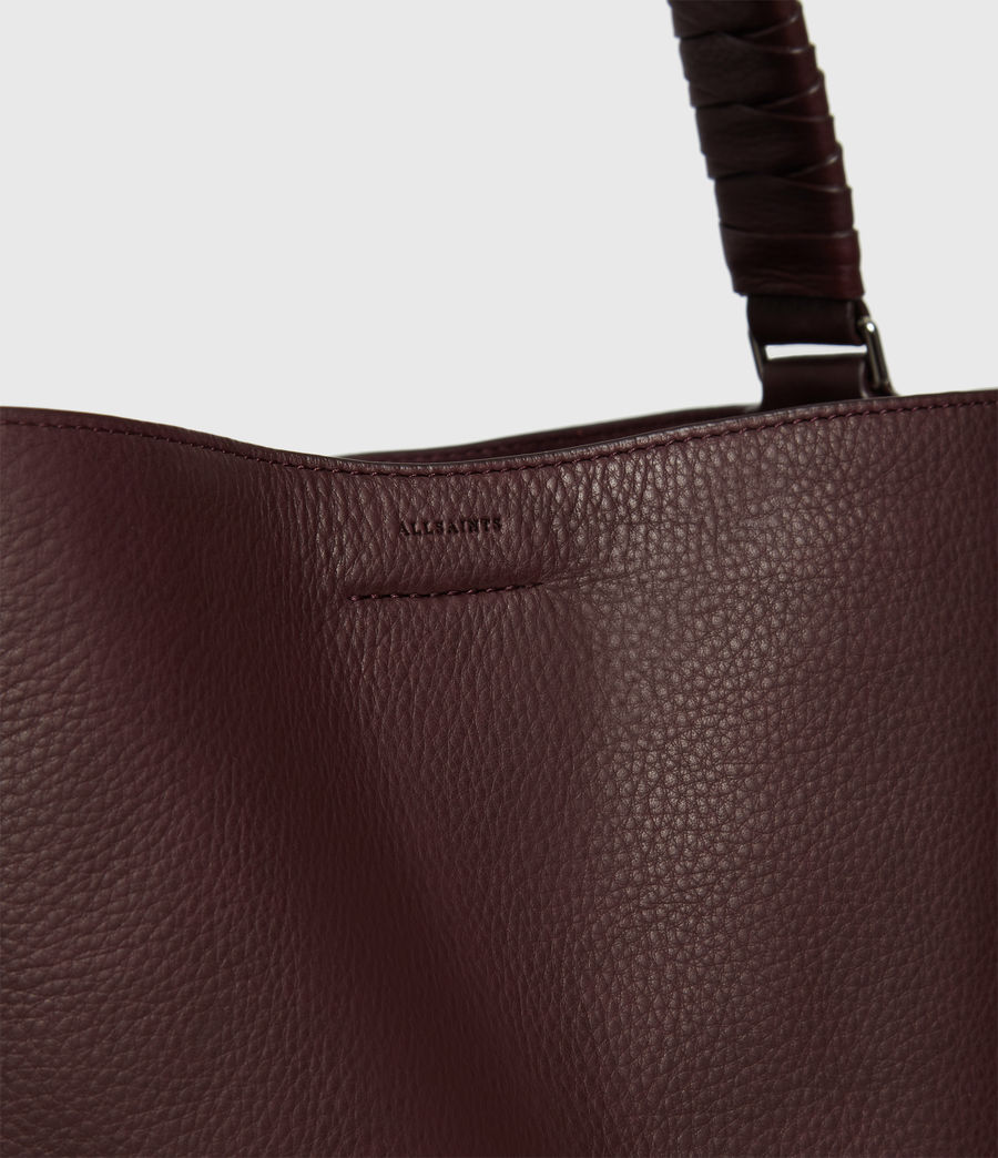Womens Shirley North South Leather Tote Bag (bordeaux_red) - Image 4