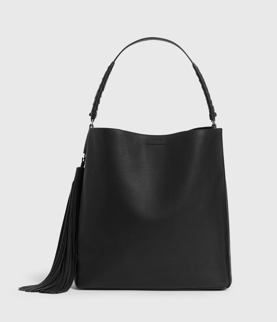 Women's Shirley North South Leather Tote Bag (black) - Image 1