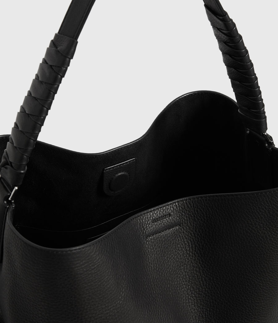 Women's Shirley North South Leather Tote Bag (black) - Image 4