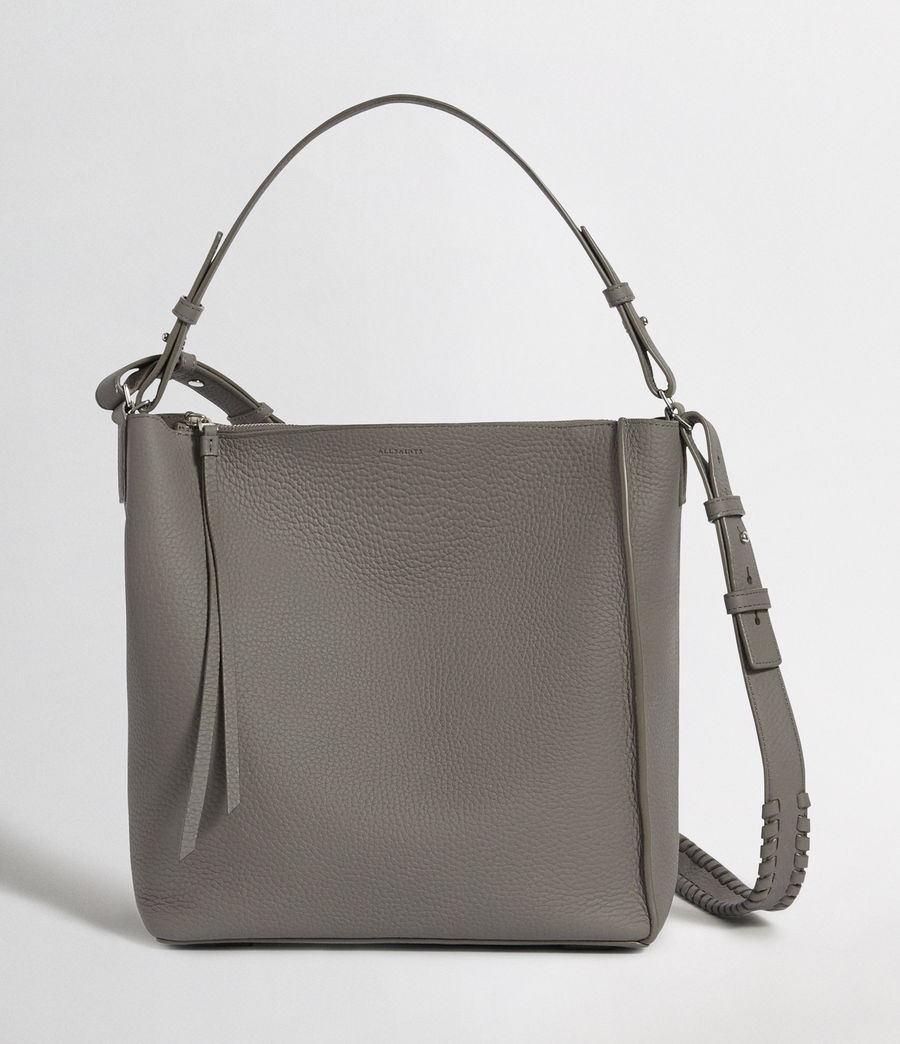 Women's Kita Leather Crossbody Bag (storm_grey) - Image 1