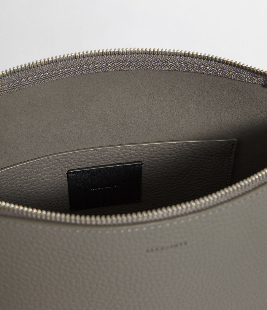 Women's Kita Leather Crossbody Bag (storm_grey) - Image 3