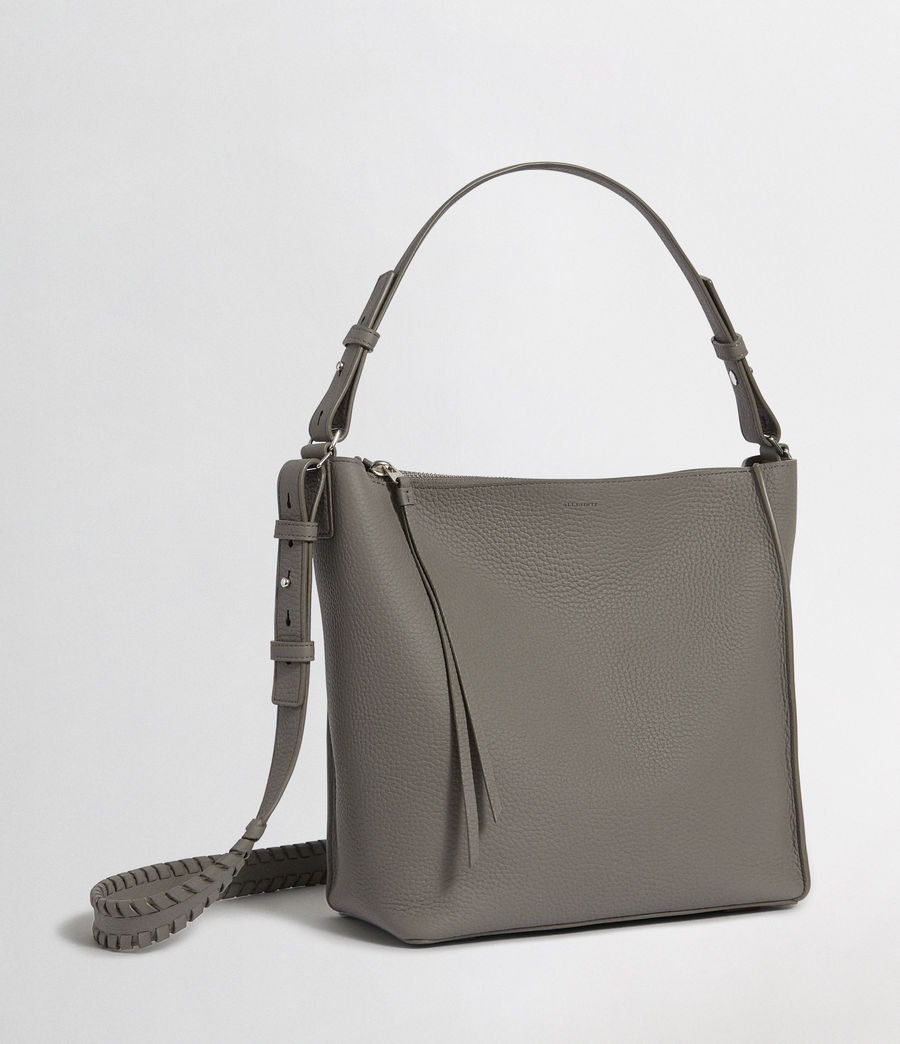 Womens Kita Leather  Crossbody Bag (storm_grey) - Image 5