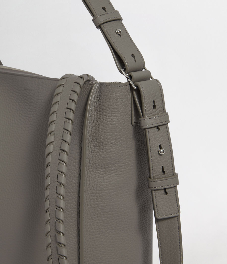 Womens Kita Leather  Crossbody Bag (storm_grey) - Image 6