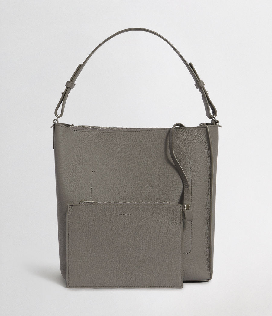 Women's Kita Leather Crossbody Bag (storm_grey) - Image 4