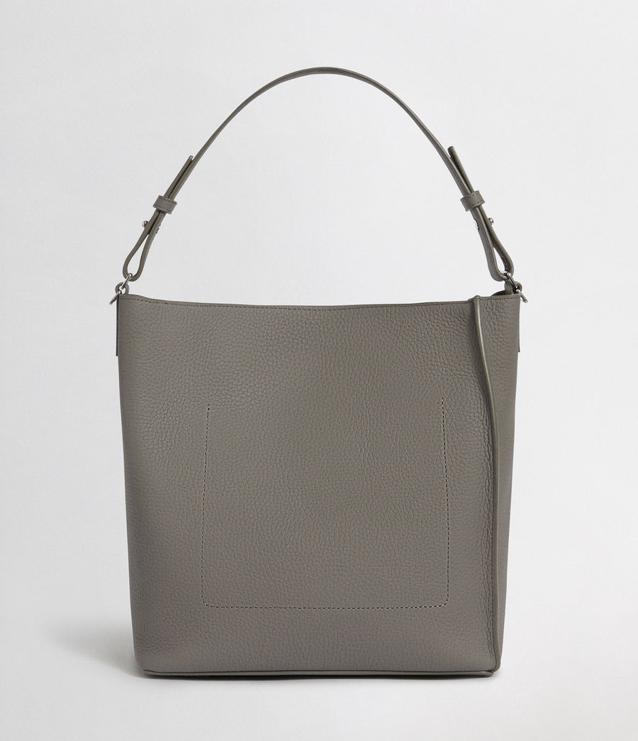 Women's Kita Leather Crossbody Bag (storm_grey) - Image 5