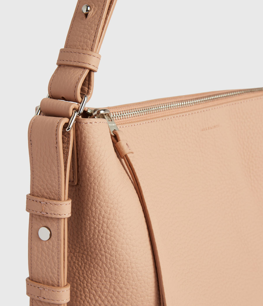 Mujer Kita Leather Crossbody Bag (nude_pink) - Image 4