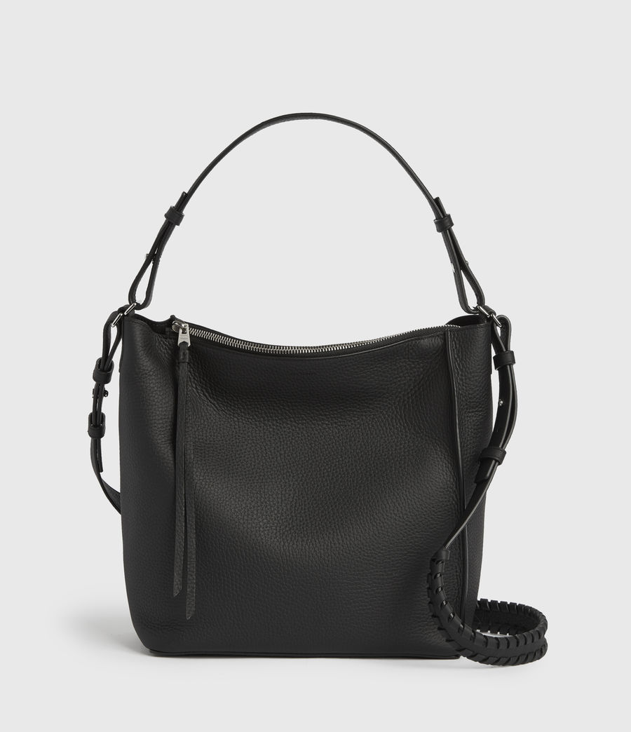 Women's Kita Leather Crossbody Bag (black) - Image 2