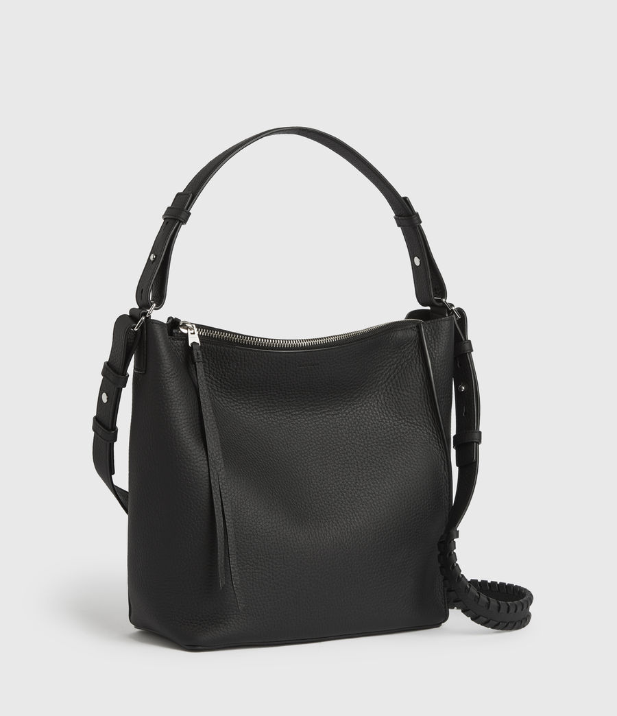 Womens Kita Leather Crossbody Bag (black) - Image 3