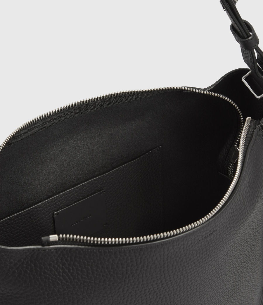 Women's Kita Leather Crossbody Bag (black) - Image 4