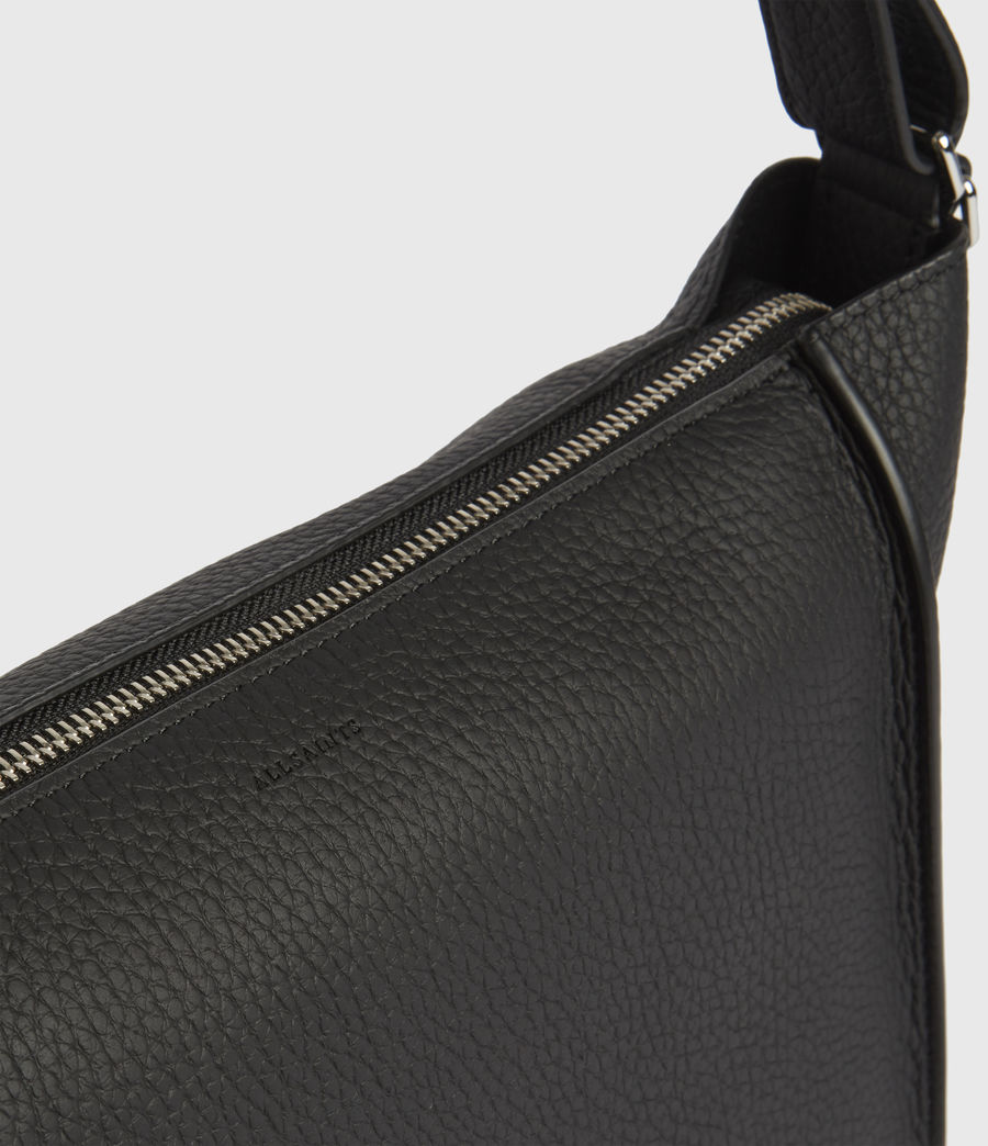 Women's Kita Leather Crossbody Bag (black) - Image 5