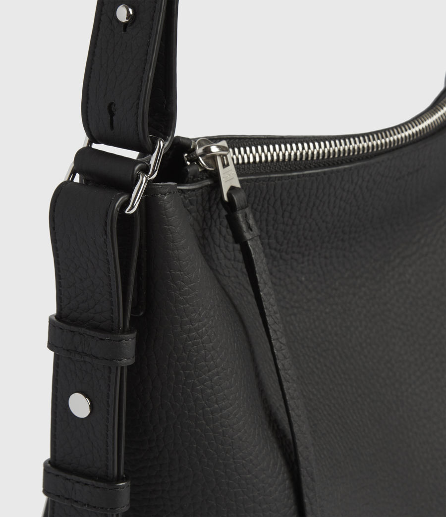 Womens Kita Leather Crossbody Bag (black) - Image 6