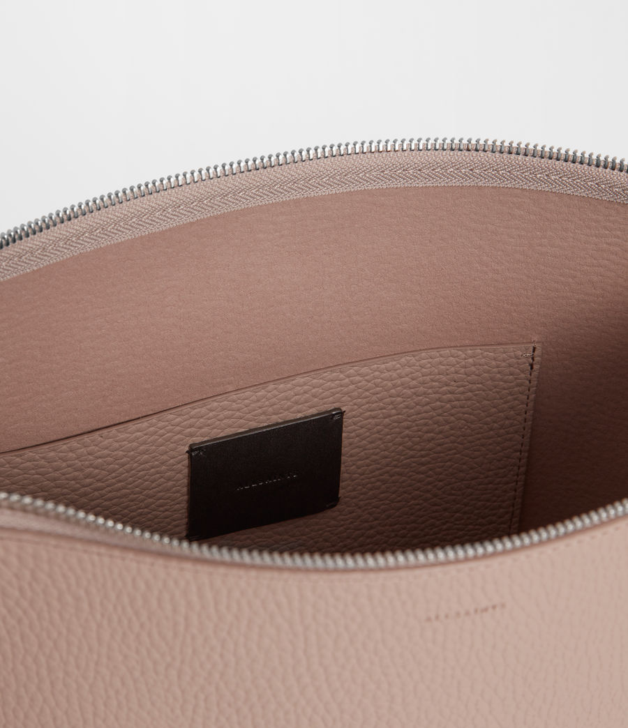 Women's Kita Leather Crossbody Bag (sand_beige) - Image 8