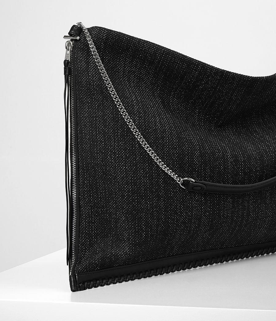Donne Fleur De Lis Chain Shoulder Hobo/Black (black_black) - Image 2