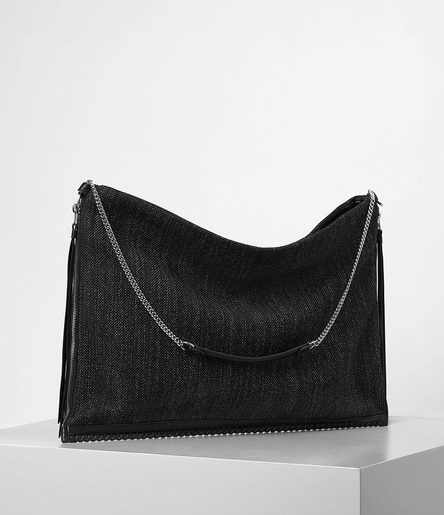 Donne Fleur De Lis Chain Shoulder Hobo/Black (black_black) - Image 3