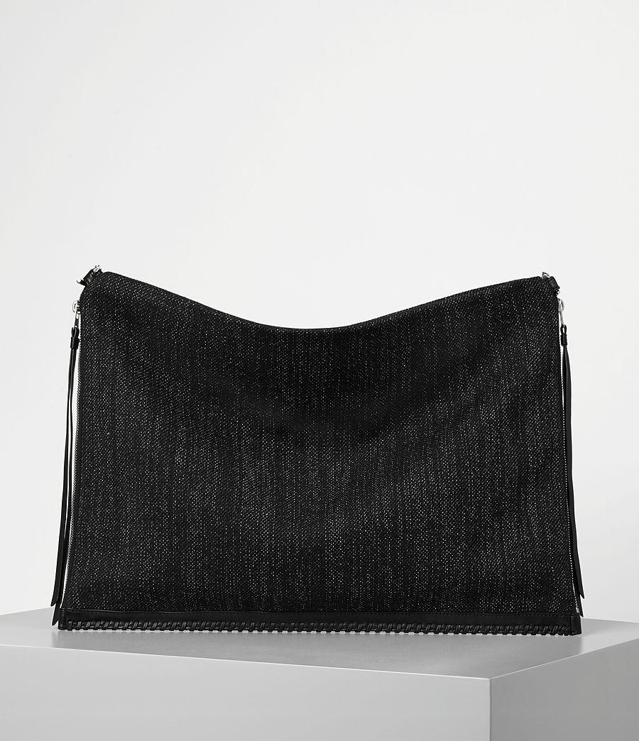 Donne Fleur De Lis Chain Shoulder Hobo/Black (black_black) - Image 5