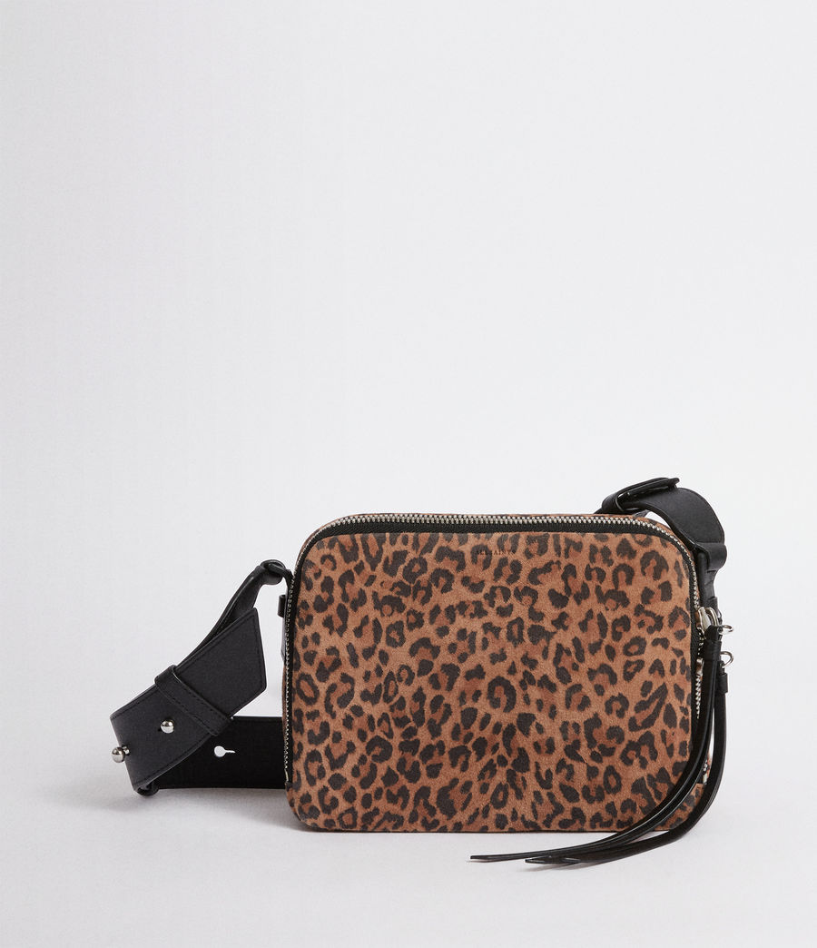 Women's Vincent Suede Crossbody Bag (leopard_black) - Image 1
