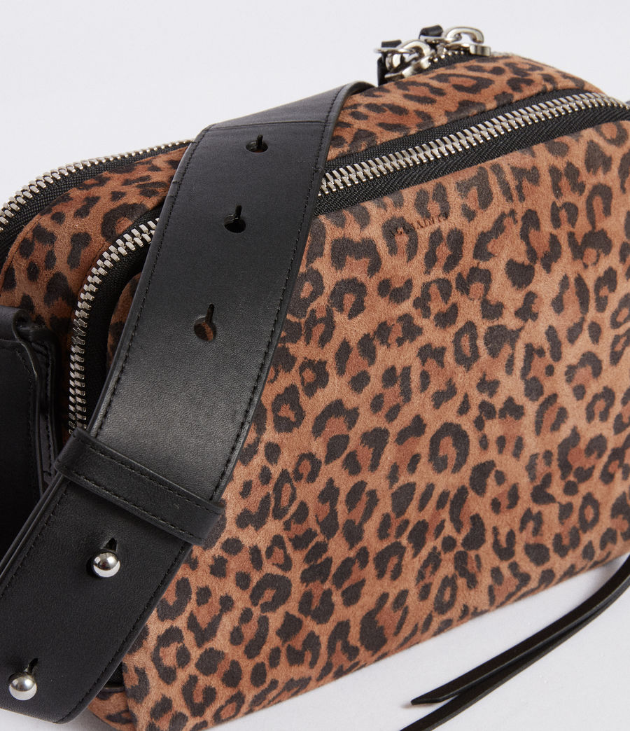 Women's Vincent Suede Crossbody Bag (leopard_black) - Image 3