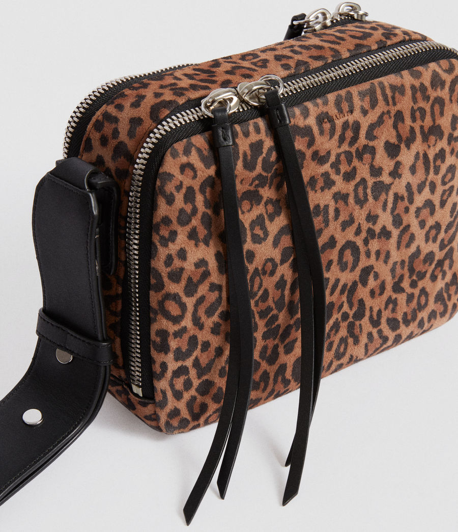 Women's Vincent Suede Crossbody Bag (leopard_black) - Image 4