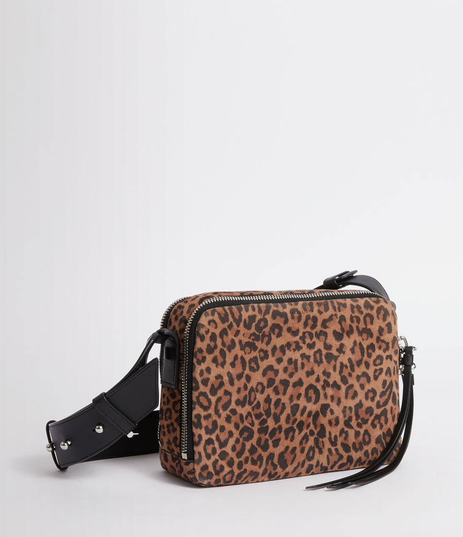Women's Vincent Suede Crossbody Bag (leopard_black) - Image 5