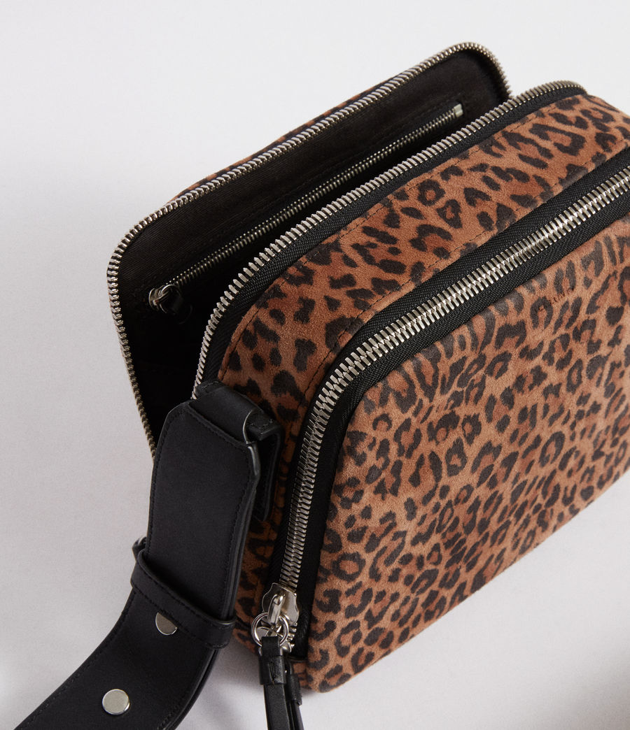 Women's Vincent Suede Crossbody Bag (leopard_black) - Image 6