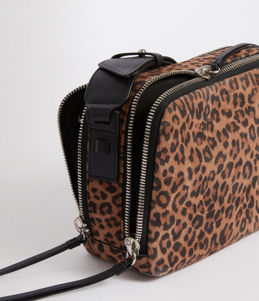 Women's Vincent Suede Crossbody Bag (leopard_black) - Image 7