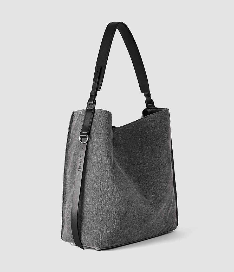 Donne Paradise North South Tote (washed_black_blk) - Image 4