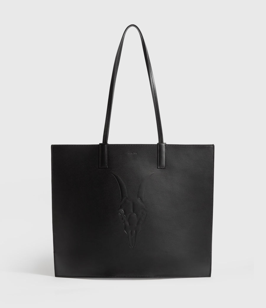 Womens Margate North South Leather Tote Bag (black) - Image 1