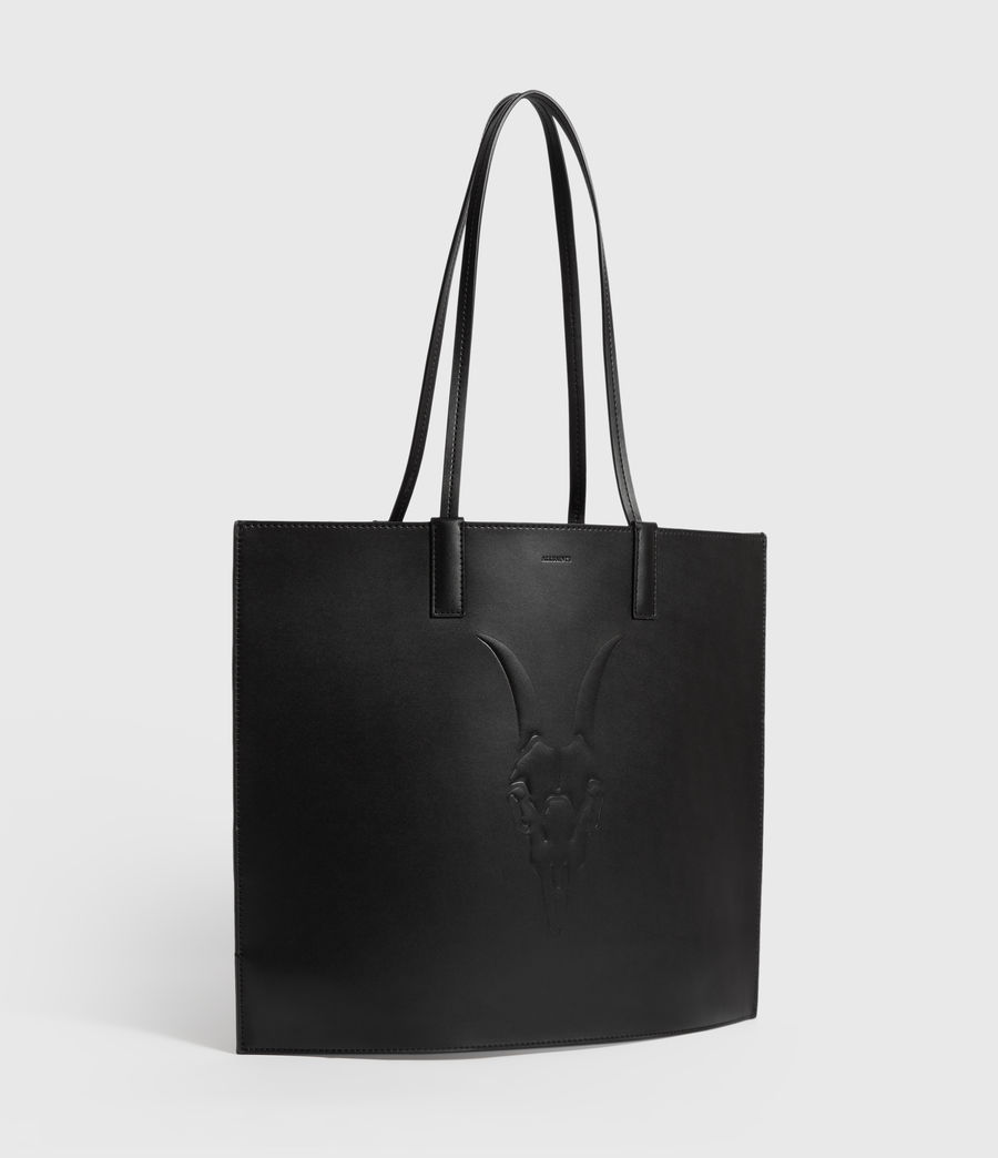 Womens Margate North South Leather Tote Bag (black) - Image 3