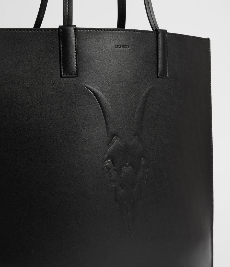 Womens Margate North South Leather Tote Bag (black) - Image 5