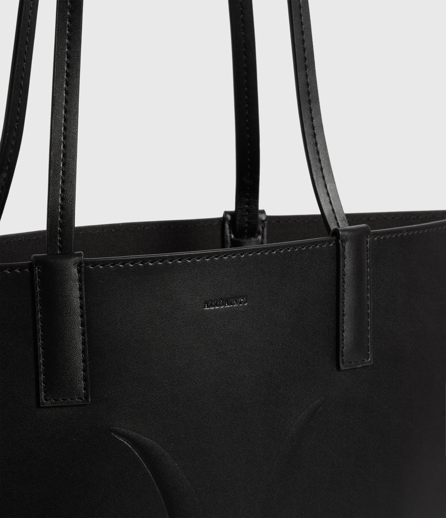 Donne Borsa Tote Margate North South - Realizzata a mano - In pelle (black) - Image 6