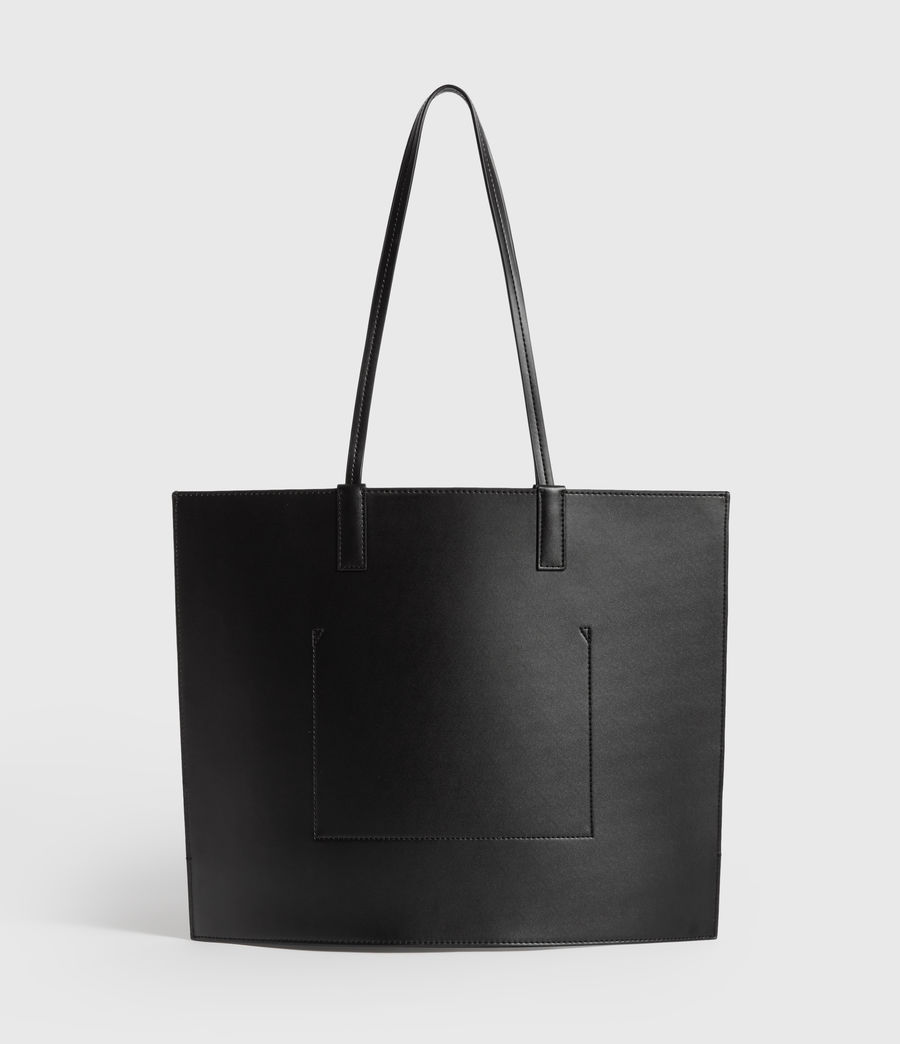 Womens Margate North South Leather Tote Bag (black) - Image 7