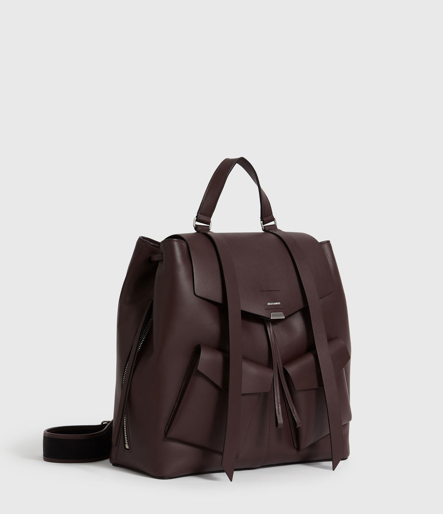Womens Darcy Leather Backpack (bordeaux_red) - Image 3