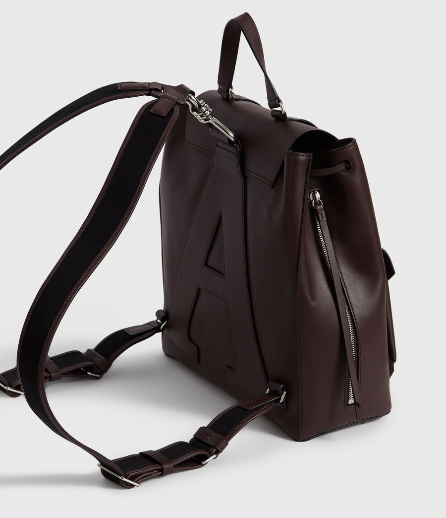 Womens Darcy Leather Backpack (bordeaux_red) - Image 5