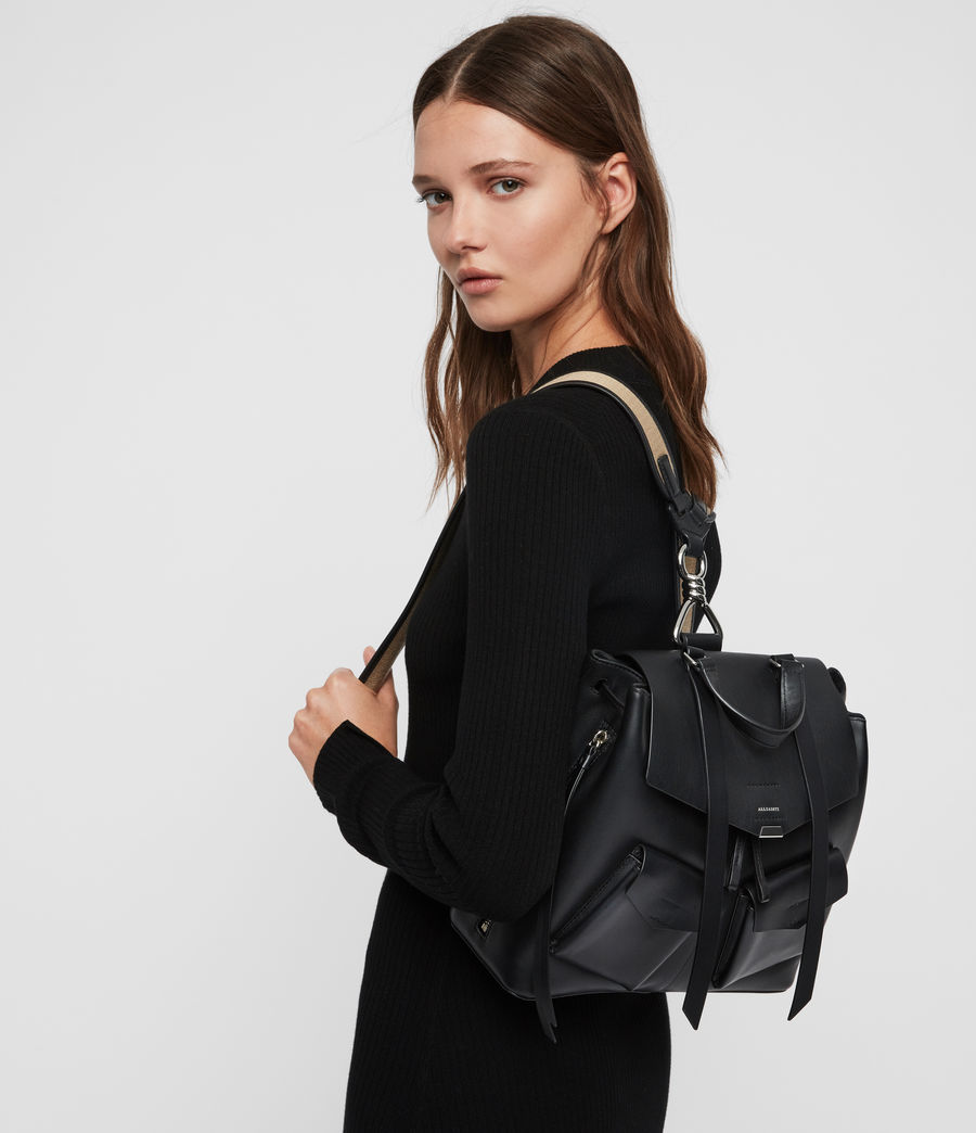 Women's Darcy Leather Backpack (black) - Image 1