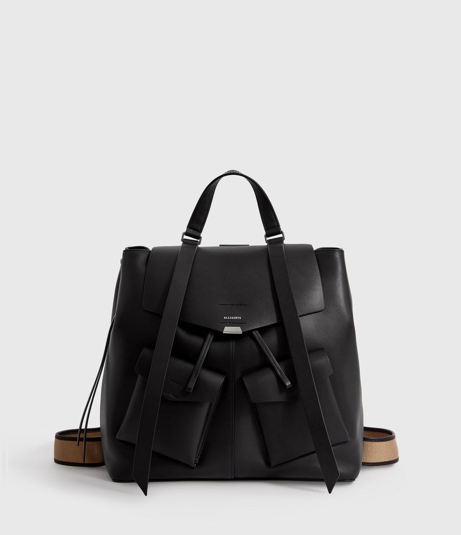 Women's Darcy Leather Backpack (black) - Image 2
