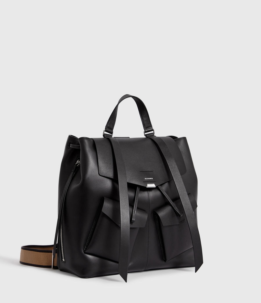 Women's Darcy Leather Backpack (black) - Image 3