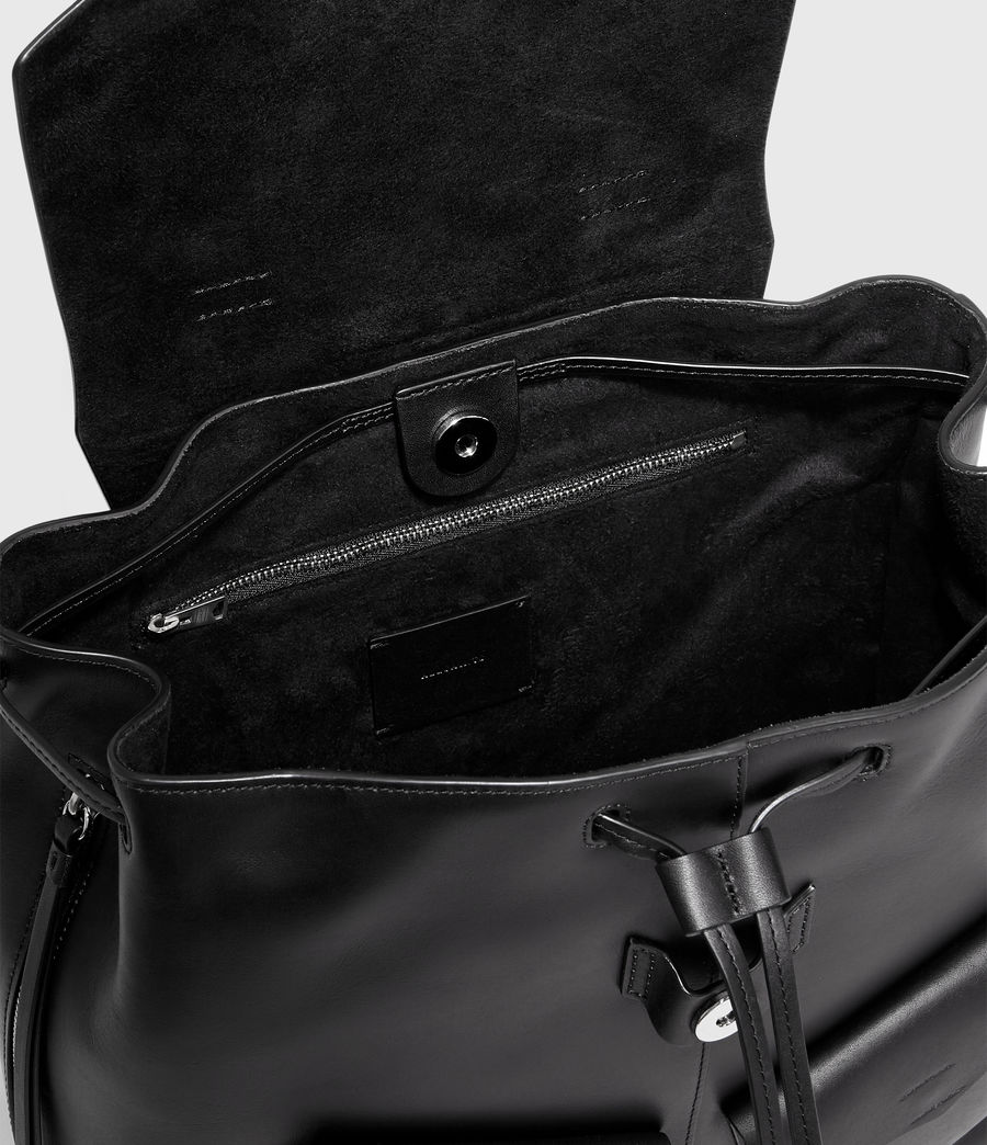 Women's Darcy Leather Backpack (black) - Image 4
