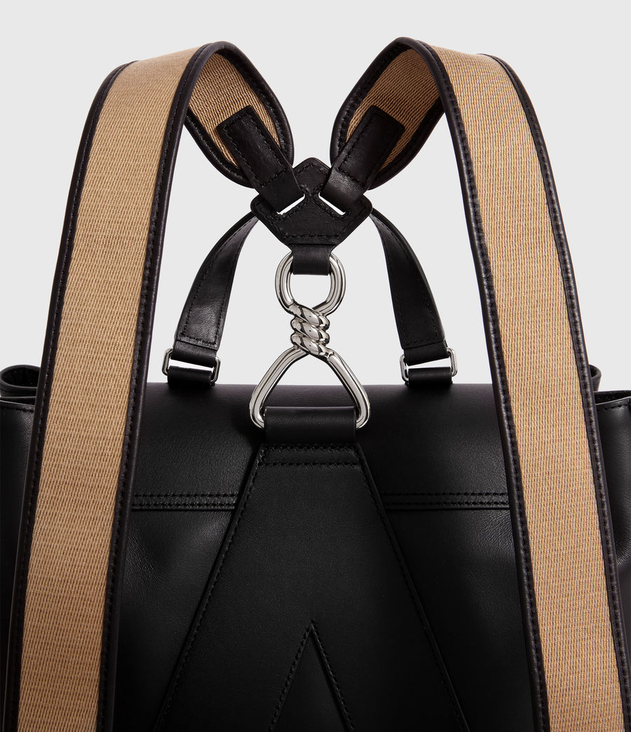 Women's Darcy Leather Backpack (black) - Image 6