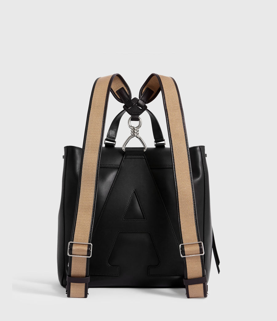 Women's Darcy Leather Backpack (black) - Image 7