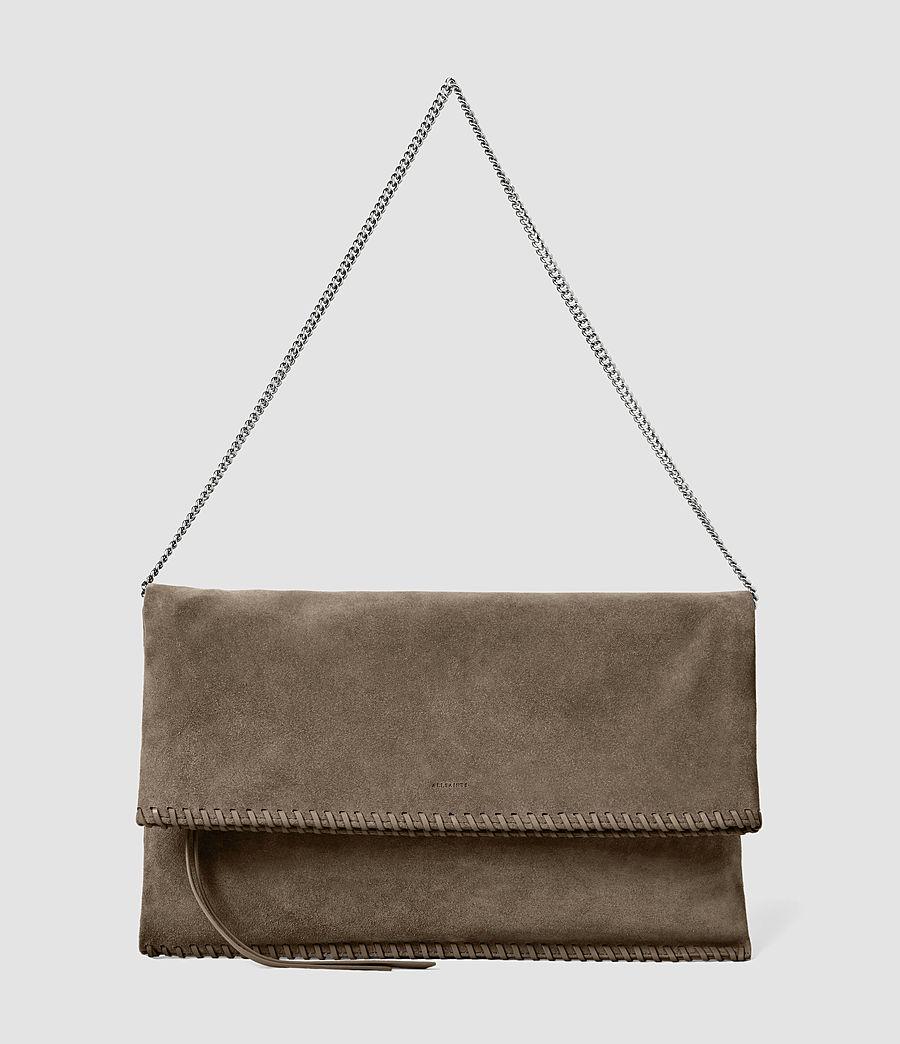 Women's Fleur De Lis Foldover Bag (almond_taupe) - Image 2