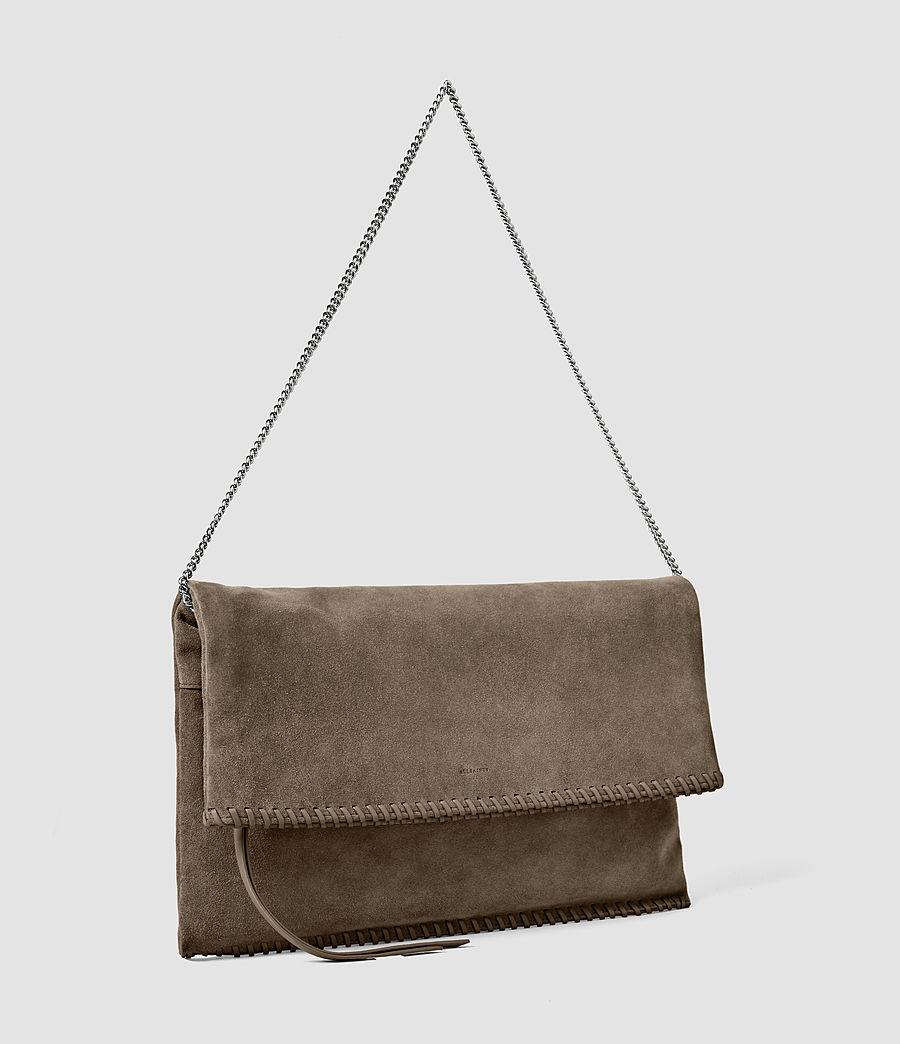 Women's Fleur De Lis Foldover Bag (almond_taupe) - Image 3